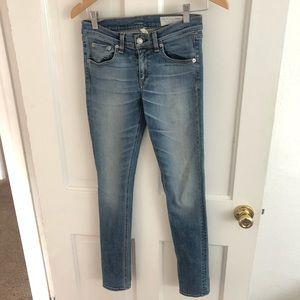 Rag and Bone Skinny Mid Rise Jeans